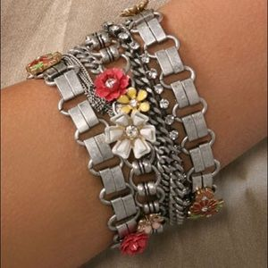 NEW Juicy Couture Flower Multi Strand Bracelet